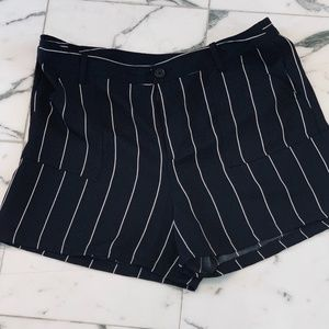 Women's Who What Wear Striped Trouser Shorts